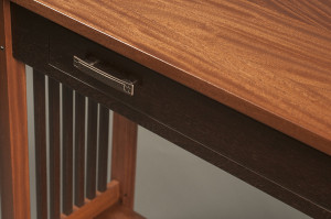 Hall table, closeup