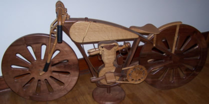 1926 Peashooter Board Track Harley Davidson Replica